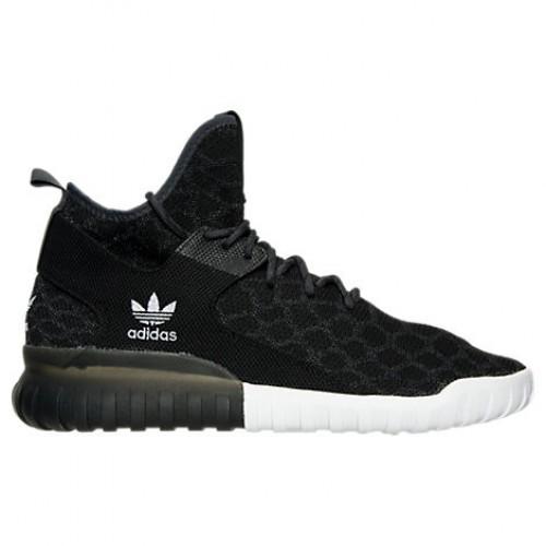 57a1116e9a8252 Shop B25591 BLK Men s adidas Tubular X PrimeKnit Casual Shoes  Black Carbon Vintage White